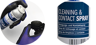 SensorTack® Cleaning and contact spray - ideal pre-cleaner and assembly support
